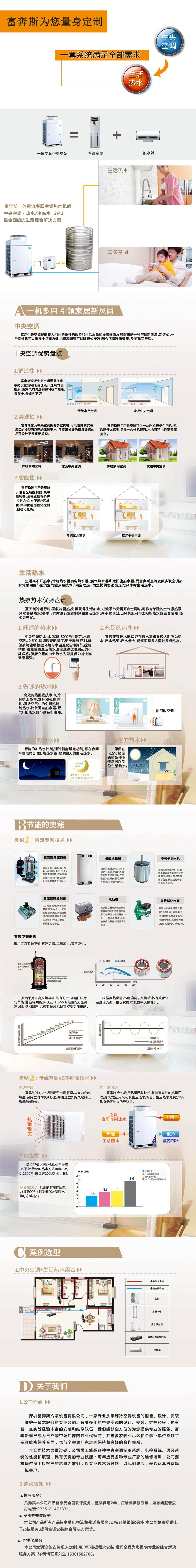 家用、别墅中央空调热水器二合一全能一体机图片一