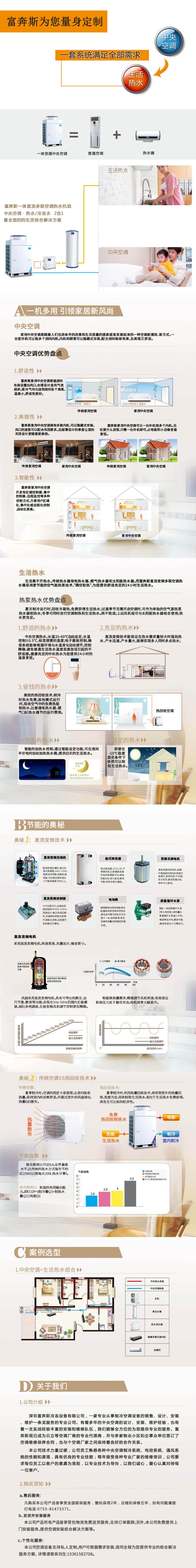 家用、别墅中央空调热水器二合一全能一体机图片二